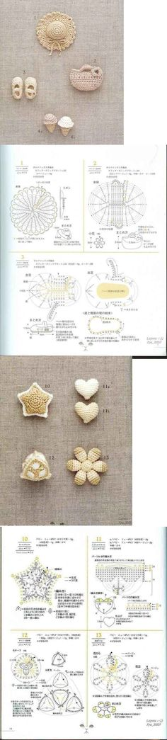 adorable crochet appliques! so cute and perfect for summer bags or around a sun hat...<3<3<3