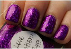 Purple and sparkles!