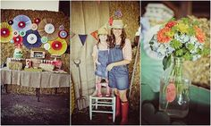 adorable party and I love the accordian circles