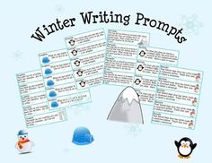 FREEBIE!  Winter Theme Writing Prompts