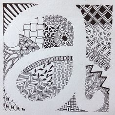 One of my examples for 6th grade's Zentangle letter drawing project. - @heggyart- #webstagram