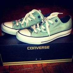 Finally got them!!! Tiffany blue converse shoes!!!