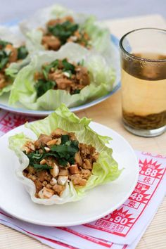 Chinese-Chicken Lettuce Cups from Leite's Culinaria