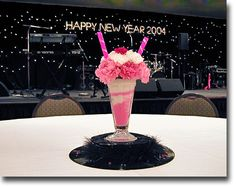 50's themed party centerpieces, 50s centerpieces, theme parties, centerpiec idea, 50s theme, wedding centerpieces, parti idea, 50s parti, milkshak