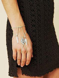 concho ring wrap bracelet, $38.00