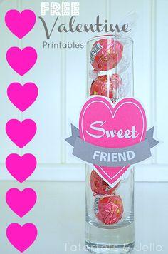 "Free Valentine's Day ""Sweet"" Friend and Teacher Printables! valentin friend, teacher printabl, sweet friend, friend printabl, free printabl, friend gifts"