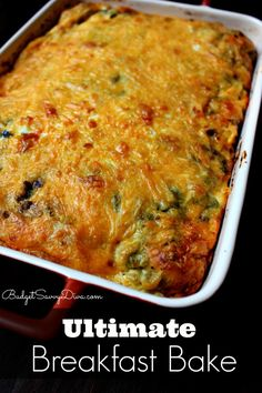 From pinner:  My whole family ate it in ONE SITTING! Are you ready for the Ultimate Breakfast Bake Recipe ?!