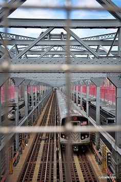 J Train crossing the Williamsburg Bridge #Bridges #Subway #NYC