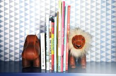 NYC Twin Boys' Room-Bookshelf Detail.