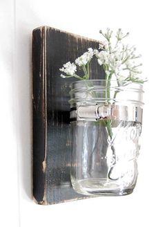 mason jar wall sconce