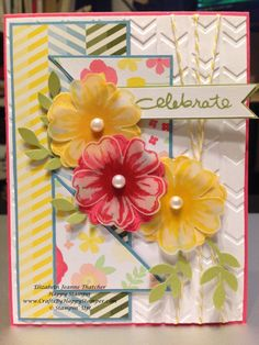 Stampin Up Flower Shop card - birthday