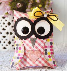 owl pillows, silhouett, packag galleri, pillow box, paper craft, cardmak scrapbook, boxes, cardmaking, owls