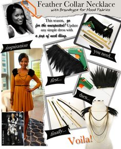 DIY_fashion Feather Collar Necklace for Mood Fabrics