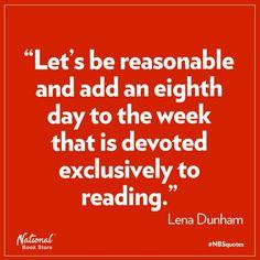 book lovers, reason, lenadunham, morning coffee, reading books, lena dunham, bookworm, quot, thing