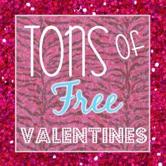 diy ideas, goodies, valentin printabl, valentine day, printabl valentin, diy crafts, valentin link, ton, free printabl