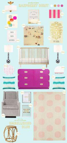 Berry & Blue baby nursery inspiration. #BRITAXstyle