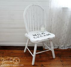 MILK & CREAM Co. Chair - Vintage Hand-painted White Chair available from KnickofTime