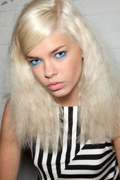 Seeing Blue and Green at Moschino - Best Spring 2013 Fashion Week Makeup Looks