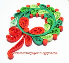 christma wreath, christmas wreaths, christma quill, craft idea, minis