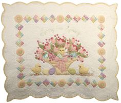 """Spring has Sprung"" applique wall hanging pattern by Cori Blunt 