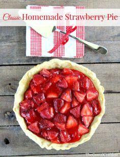 Classic Homemade Strawberry Pie Recipe
