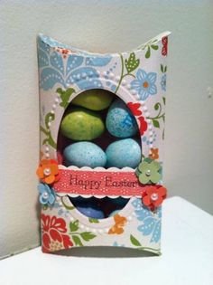 Pillow Box Easter Treat by MarlaR - Cards and Paper Crafts at Splitcoaststampers
