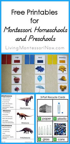Free Printables for Montessori Homeschools and Preschools #Montessori #homeschool #preschool