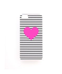 Ban.do Neon Heart Case by ban.do. Black stripes and a pink heart? This case was clearly designed for me. LUV!!!