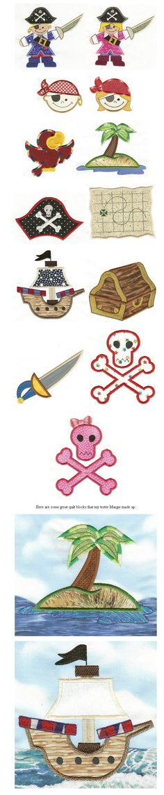 Embroidery designs- pirates