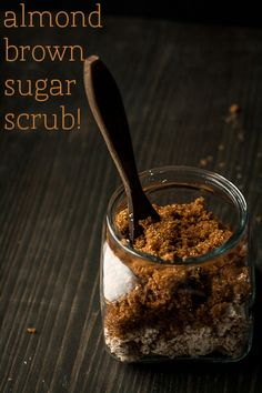 DIY Almond and Brown sugar scrub