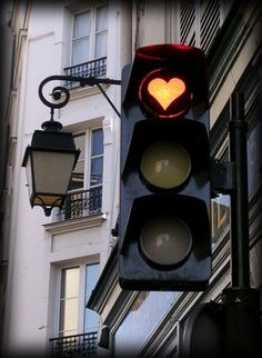 lights, paris, red, stuff, travel, happy heart, traffic light, heart traffic, thing