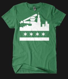 Redlinetees | Chicago White Sox Shirt | Chicago Skyline | Whitesox Chicago Flag Shirt