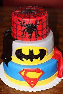 the coolest superhero cake ever!