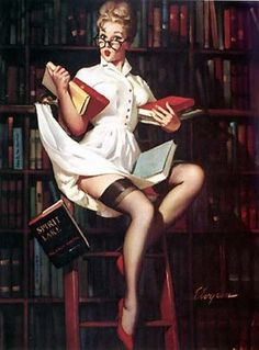 Library Pin Up
