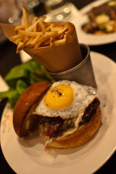 Spruce's Hamburger with Fried Egg