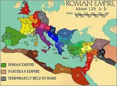 Need to know where the Roman Empire was?  This 'at-a-glance' map of ancient Rome shows you exactly how it looked in the second Century A.D.