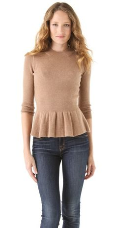 The perfect Peplum Sweater from Tory Burch.  Love.