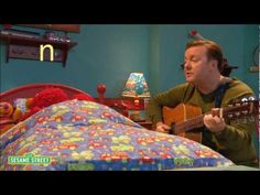 "Perfect for my Prek/K and loud/soft: Elmo and Ricky Gervais singing lullabies and learning about the letter ""N""."