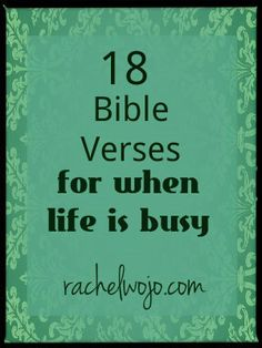 To enjoy the busy season and have the wisdom to discern true priorities...
