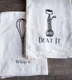 Baking Tools Tea Towel - Set of 2 by The Coin Laundry on Scoutmob Shoppe