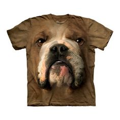 Bulldog Face Tee Adult now featured on Fab.