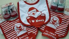 » CHRISTMAS BIB & BOOTIE SET
