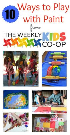 Lots of great ideas to have fun with paint with the kids.