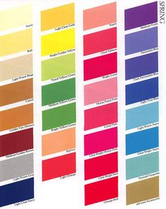 Color Me Beautiful Spring Swatches