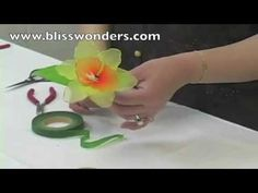 de nylon, de tela, manualidad con, flore de, ribon flower, hoa voan, tutorial manualidad, con media