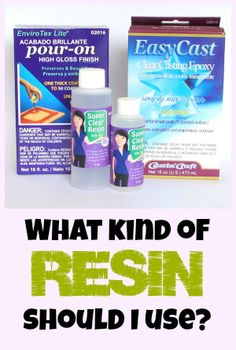 Resin Obsession blog:  Not all resins are created the same!  Advice on which resin is the best one for your project.