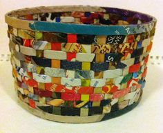 WOVEN - Coiled and woven Paper VESSEL. $35.00, via Etsy.