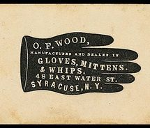 O.F. Wood Glove advertising sign