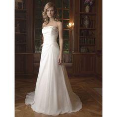 simple long chiffon bridal wedding dress only 139.95