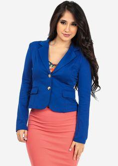 Royal Blue Blazer w/GLD buttons